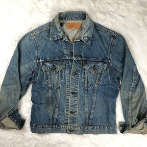Vintage Levis Denim Jacket Distressed Worn in